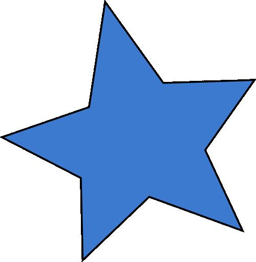 500x512 Blue Star Clip Art
