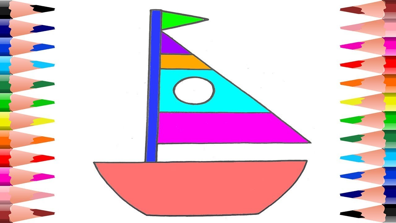 1280x720 Boat Coloring Pages For Toddlers