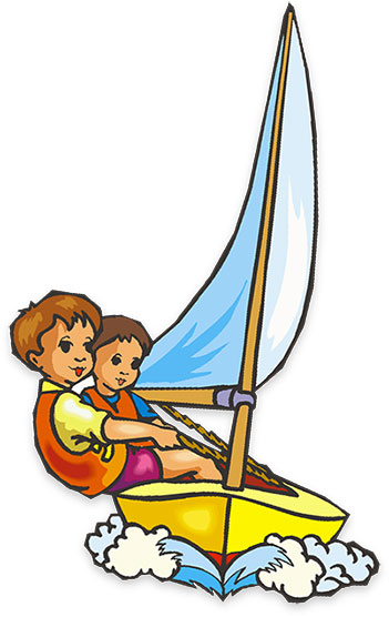 351x556 Kids Fishing Boat Clipart
