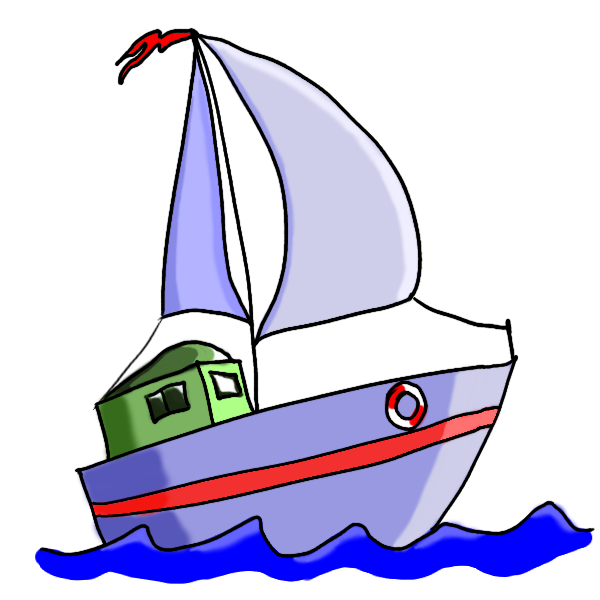 600x600 Boat In The Water For Kids Clipart