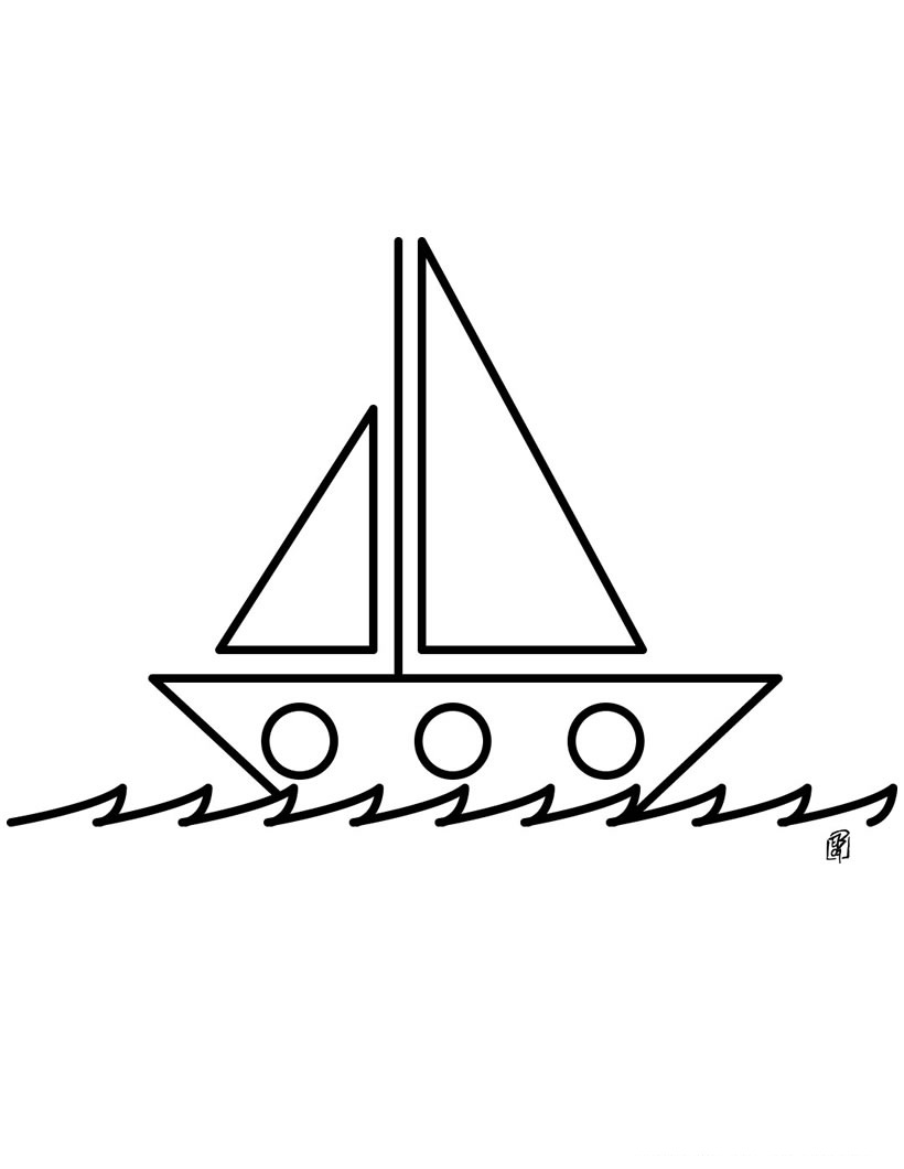 820x1060 Drawing Coloring Pages Of Boat For Kids 2014