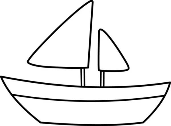 600x442 Boat Coloring Pages For Kids