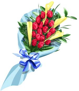 303x350 Bouquet Clipart Flower Bunch