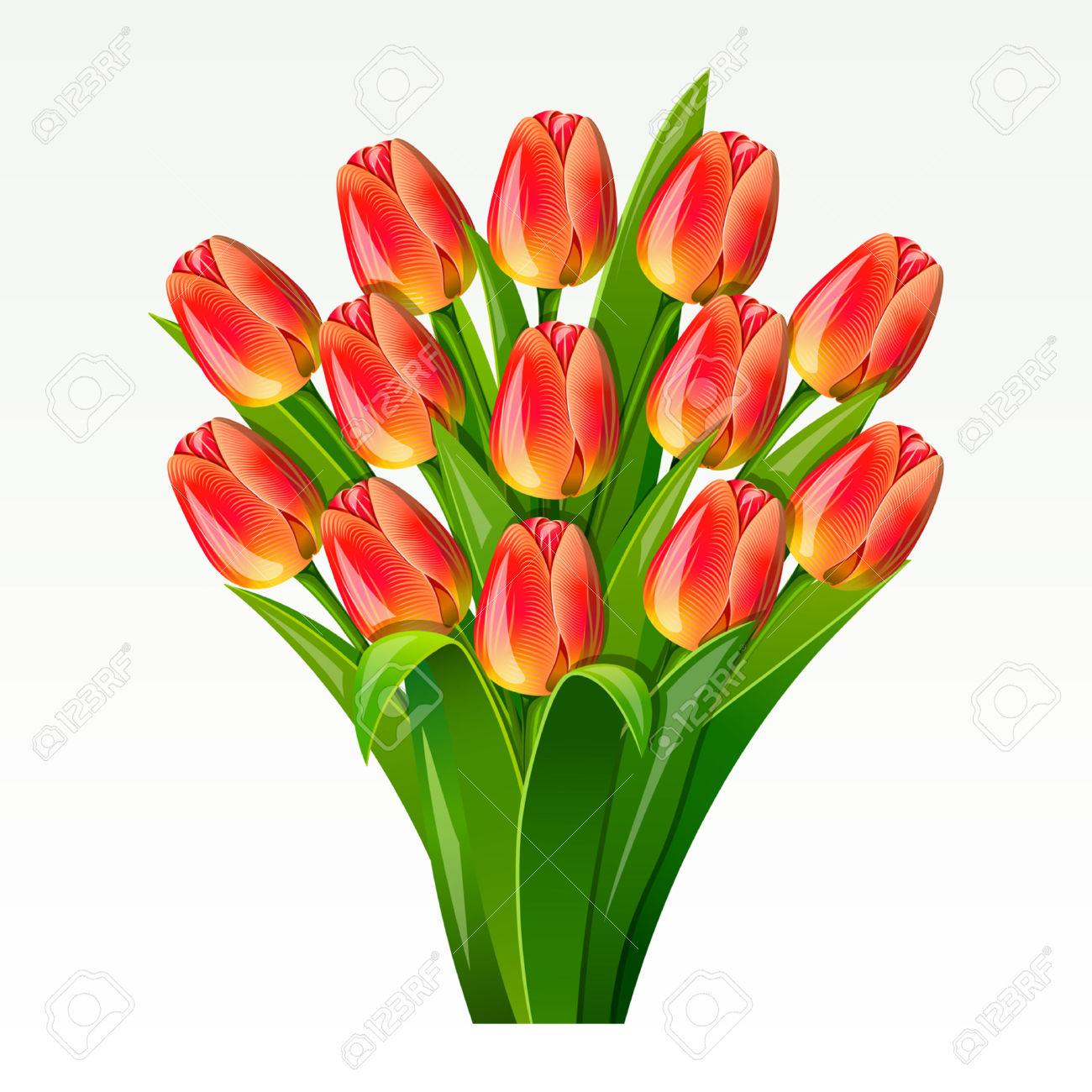 1300x1300 Bouquet Clipart Tulip Bouquet