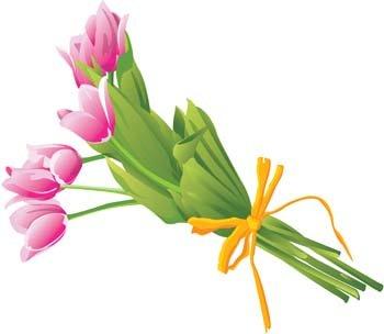 350x304 Birthday Bouquet Clipart