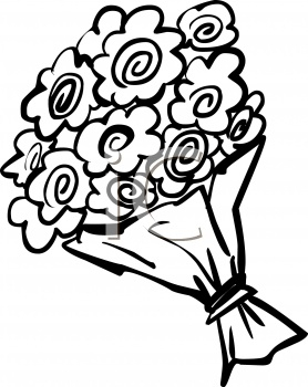 278x350 Flower Bouquet Clipart Black And White Letters Example