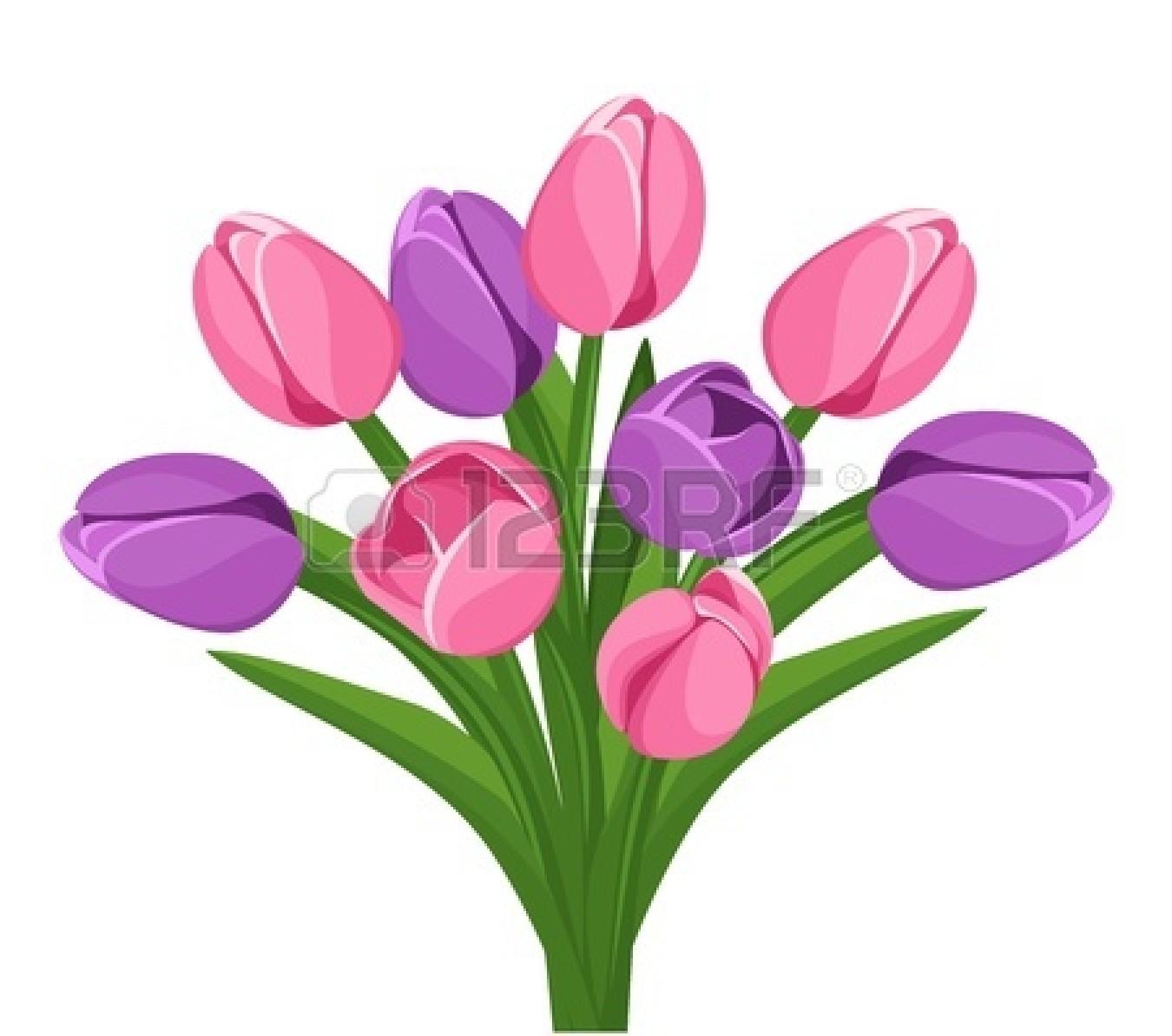 1350x1194 Tulip Clipart Spring Bouquet
