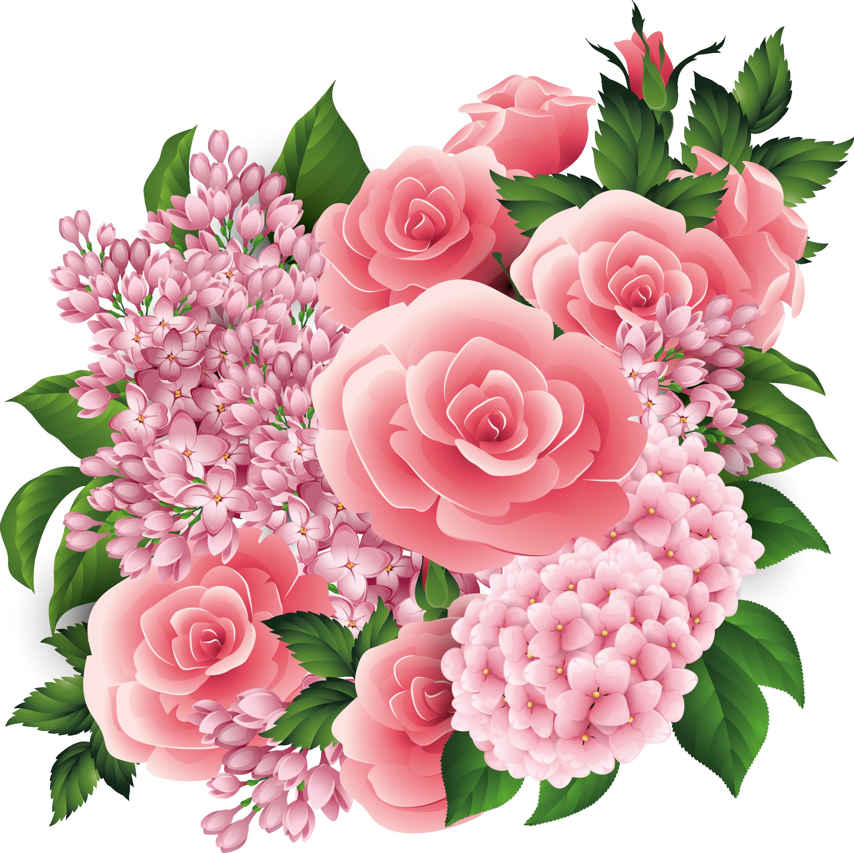 2439x2434 Bouquet Clipart Beautiful Flower