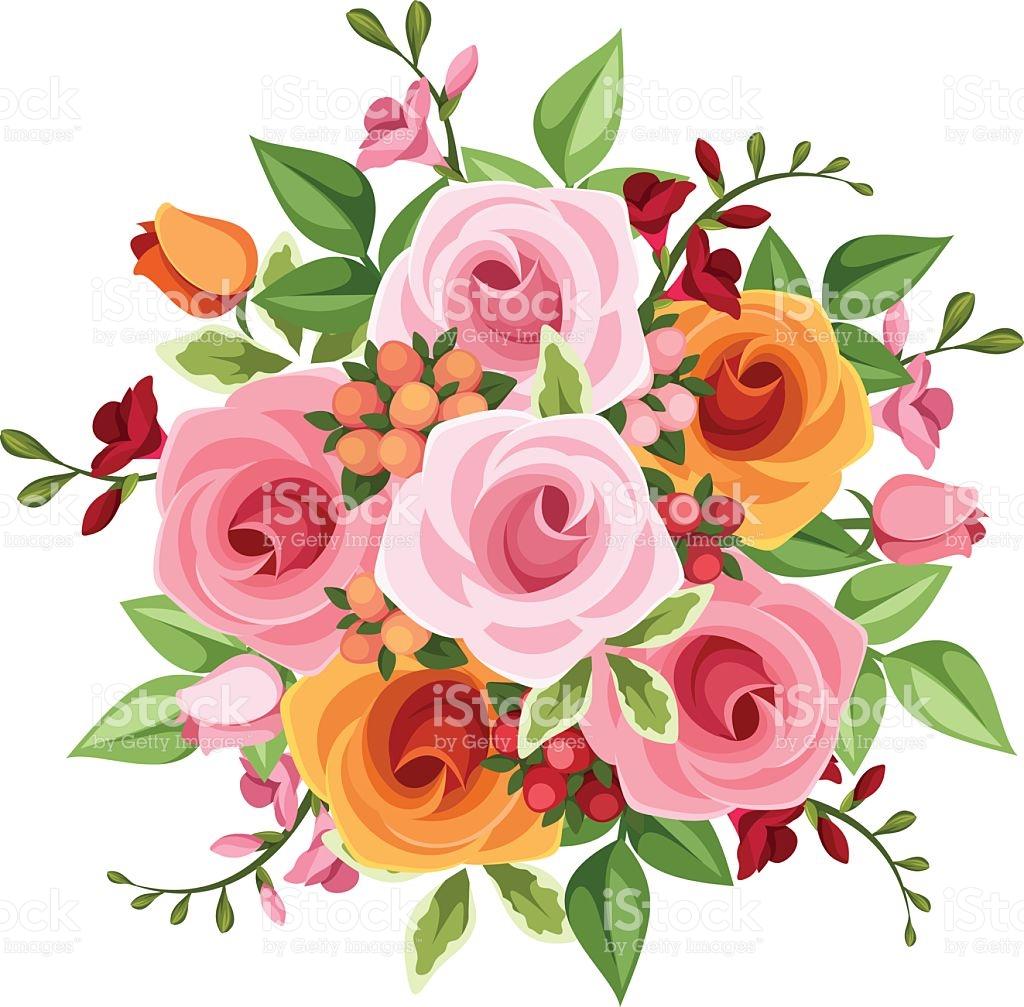 1024x1007 Bouquet Clipart Flower Illustration