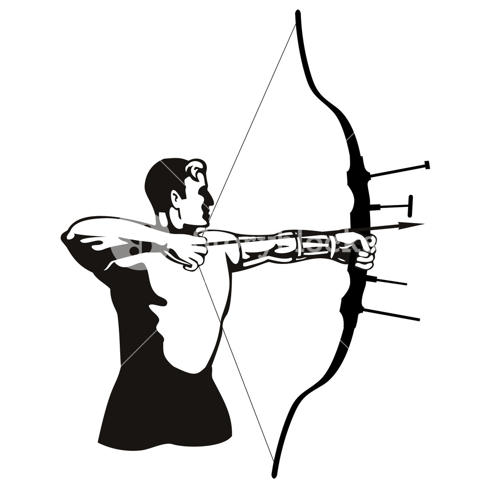 1000x1000 Archer Bow Arrow Royalty Free Stock Image
