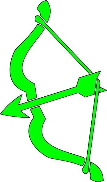 348x591 Green Bow N Arrow Clip Art