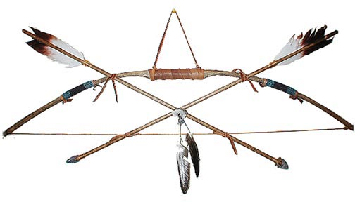 504x288 Indian Bow And Arrow Clipart