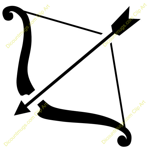 500x500 Simple Clipart Bow And Arrow