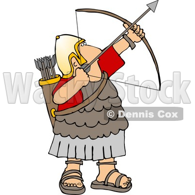 400x400 Army Soldier Shooting A Bow And Arrow Clipart Djart
