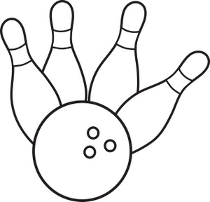300x288 Bowling Clipart Image