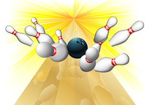 300x214 Bowling Pins And Ball Lite Sports Icon Royalty Free Stock Image