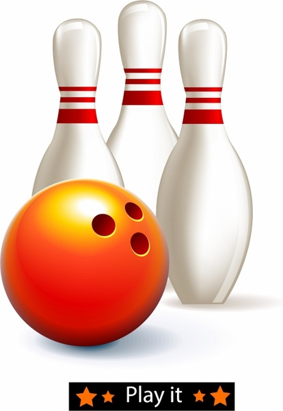 414x600 Bowling Ball And Pins Free Vector In Adobe Illustrator Ai ( Ai