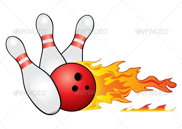 590x417 Bowling Ball Crashing Into The Pins By Oxygen64 Graphicriver