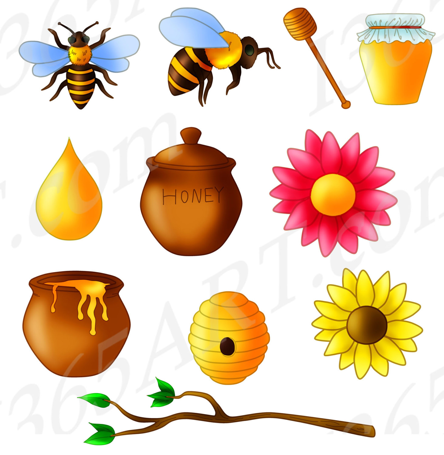 1463x1500 50% Off Bees Clipart, Honey Bees Clip Art, Bumble Bees, Bees