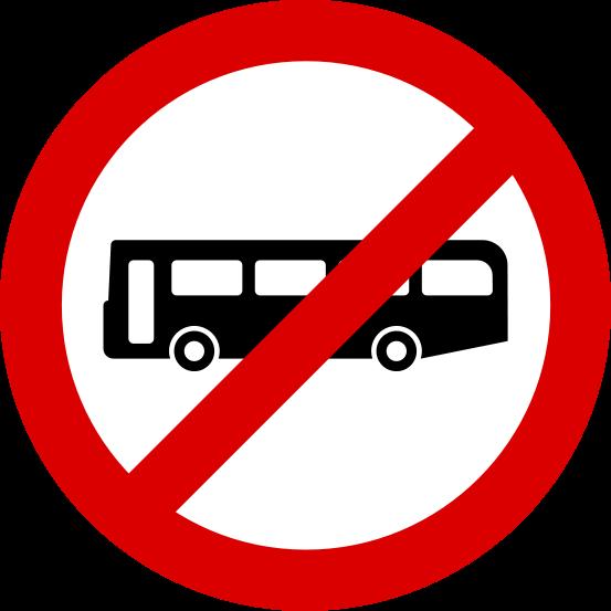553x553 No Busses Clipart
