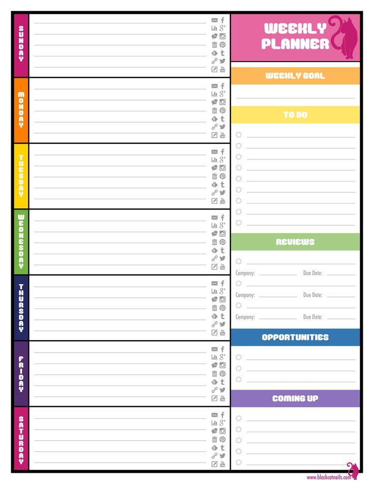 736x952 Best Weekly Calendar Template Ideas Print