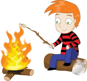 300x280 Boys Camping Clipart