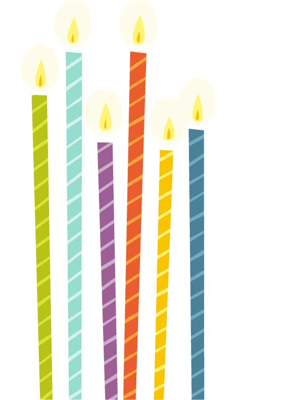 576x792 Birthday Candle Clipart