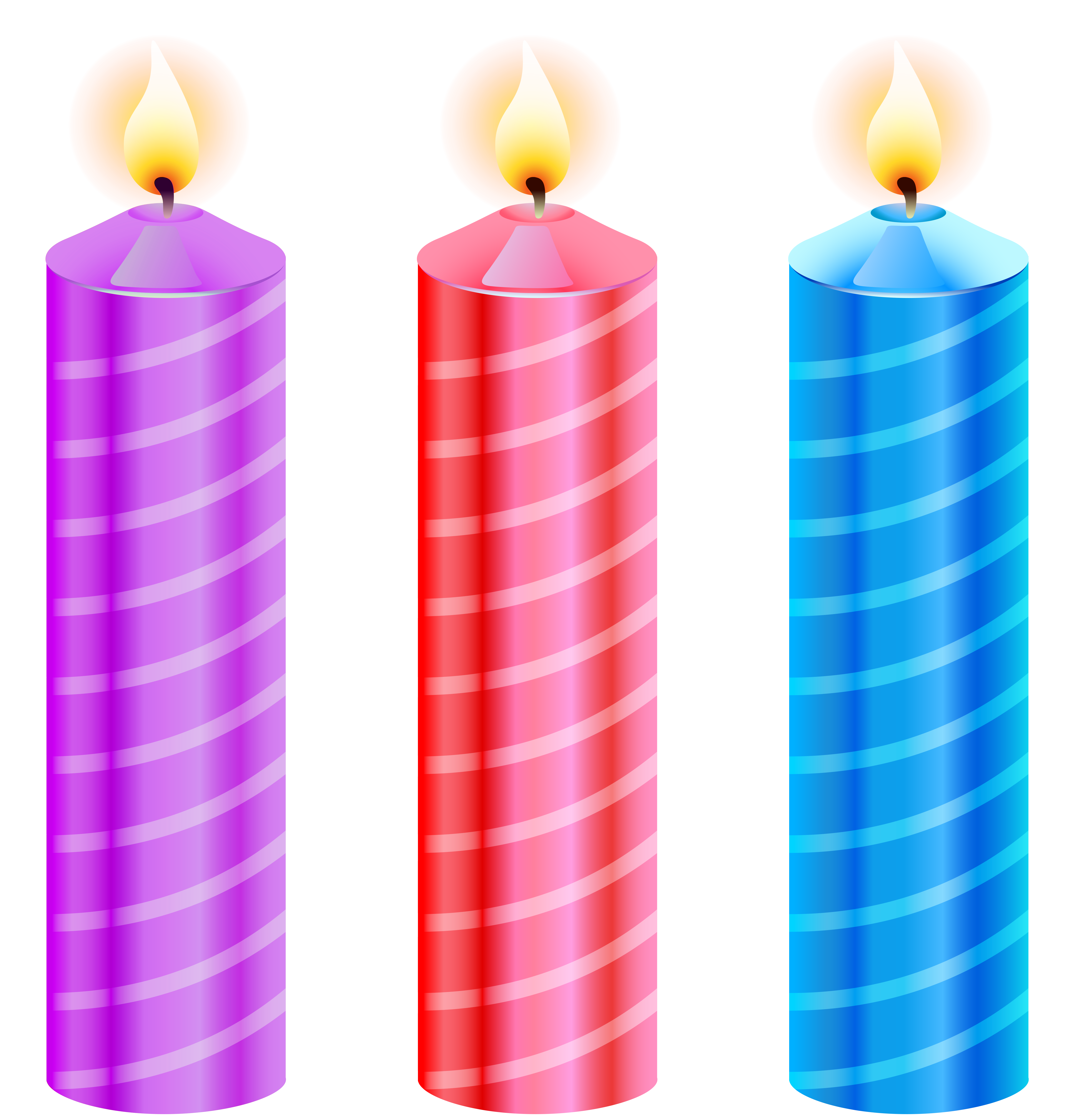 4937x5156 Birthday Candles Clipart Image