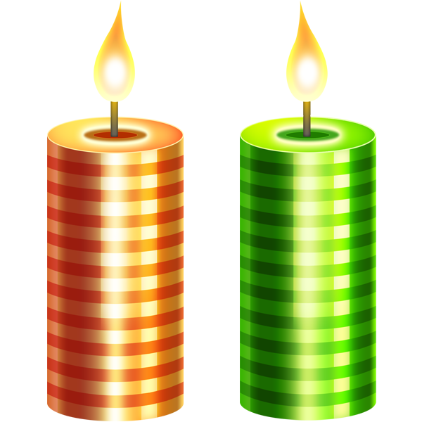600x600 Christmas Candles Psd Download