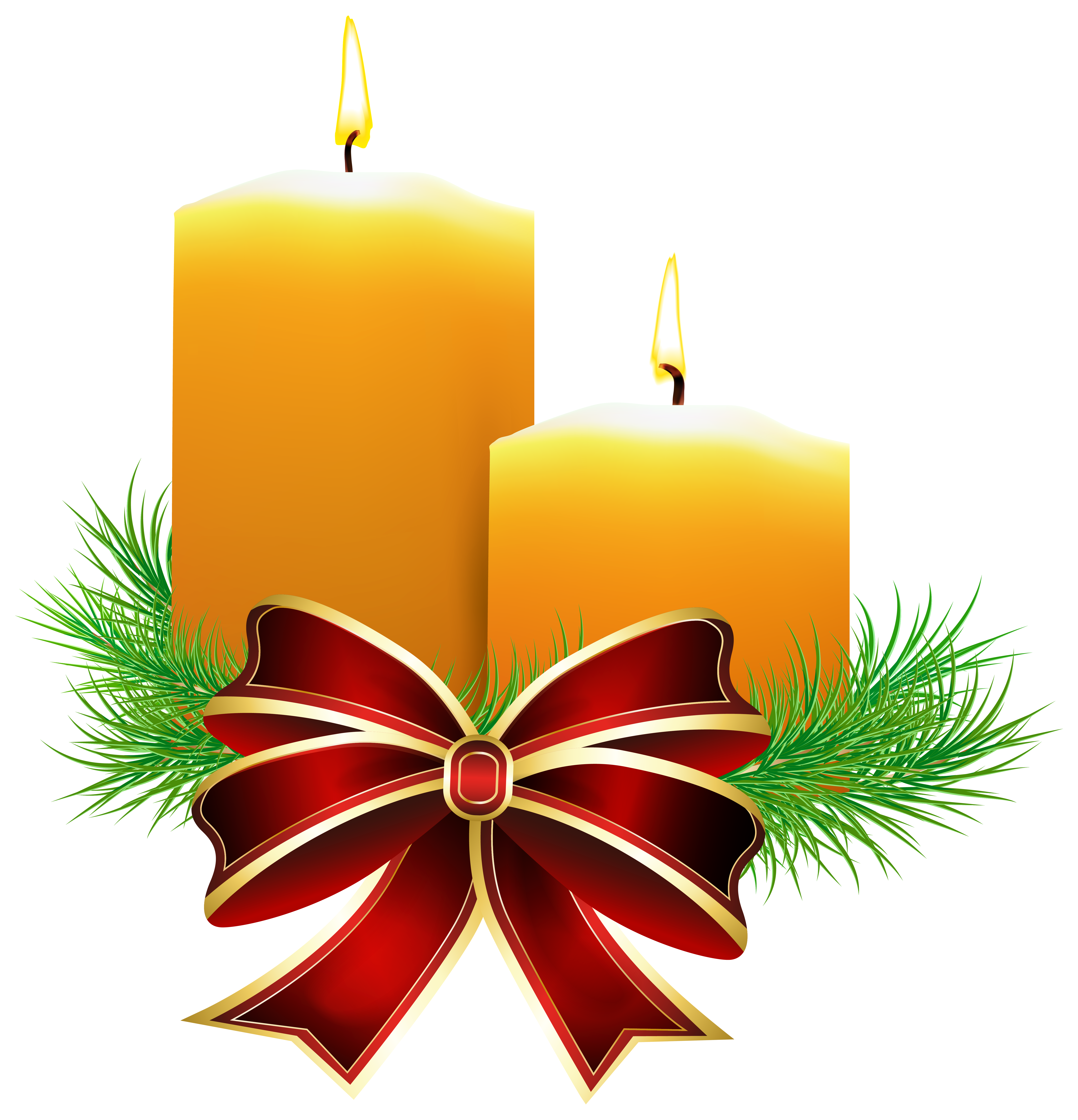 5875x6103 Christmas Candles Clipart
