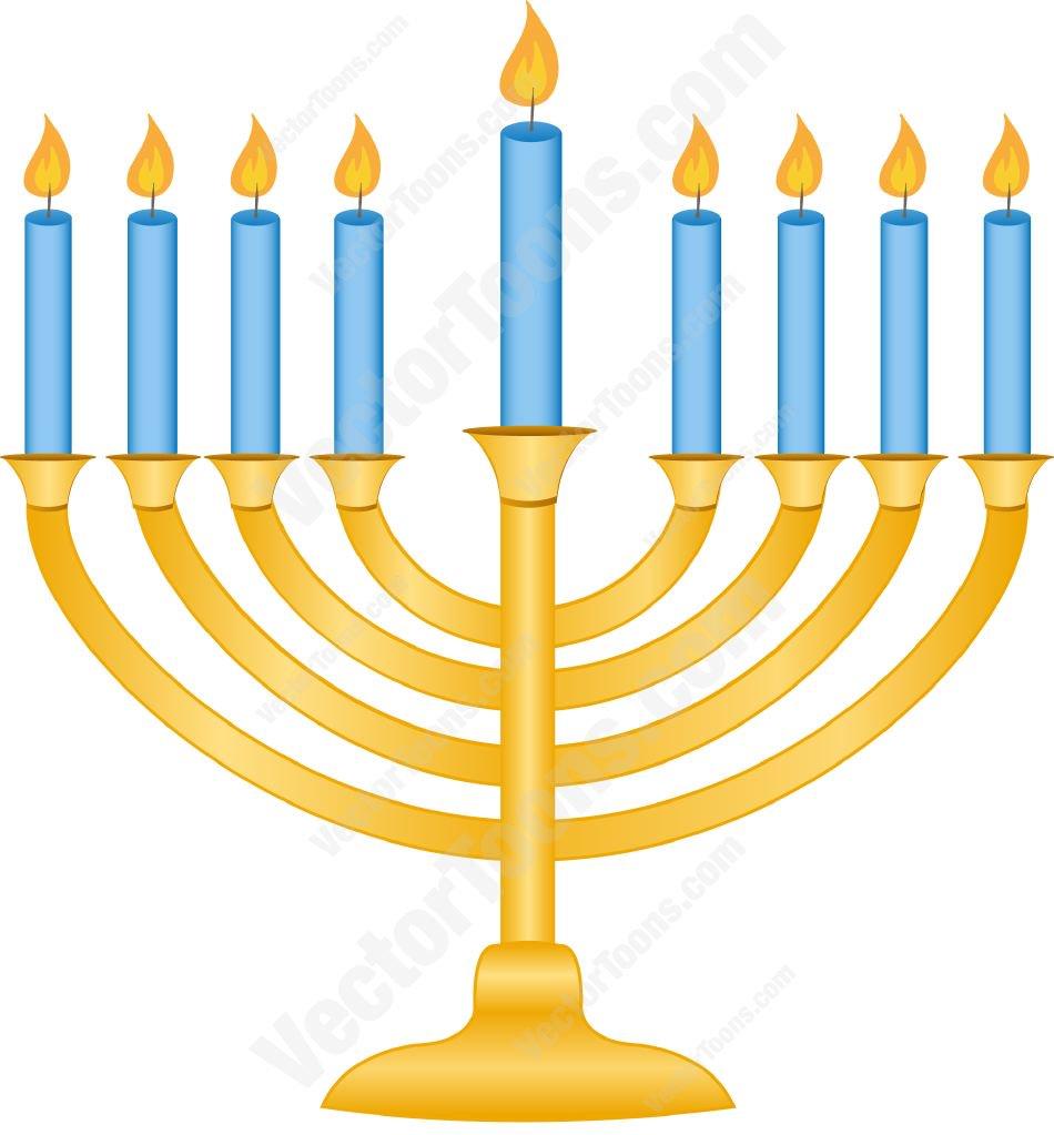 950x1023 Gold Menorah With Lit Candles Cartoon Clipart