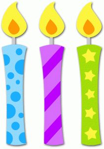 211x300 One Birthday Candle Clipart