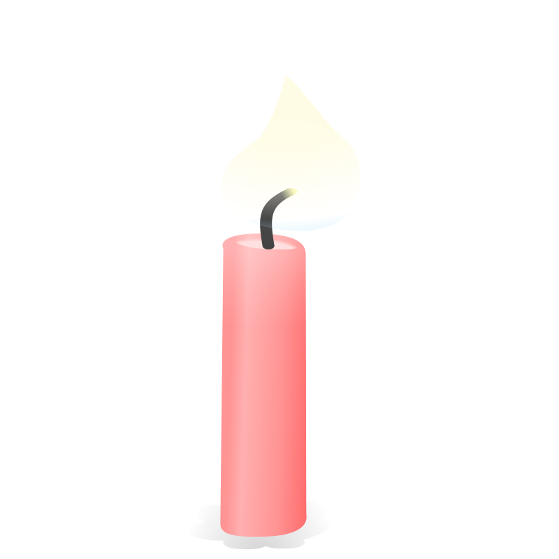 800x800 Pink Birthday Candles Clipart