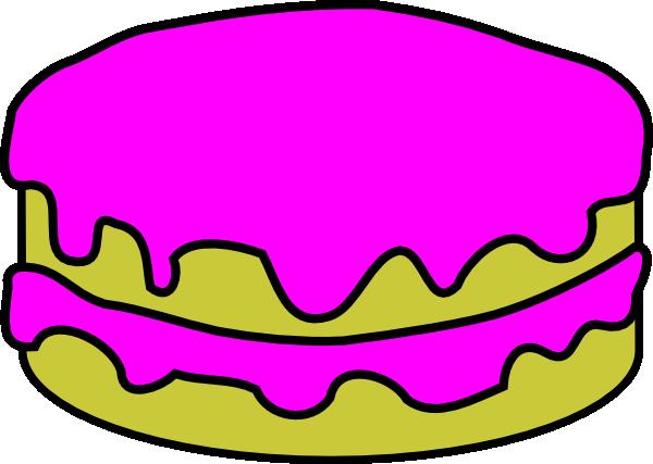 600x427 Pink Cake No Candles Clip Art