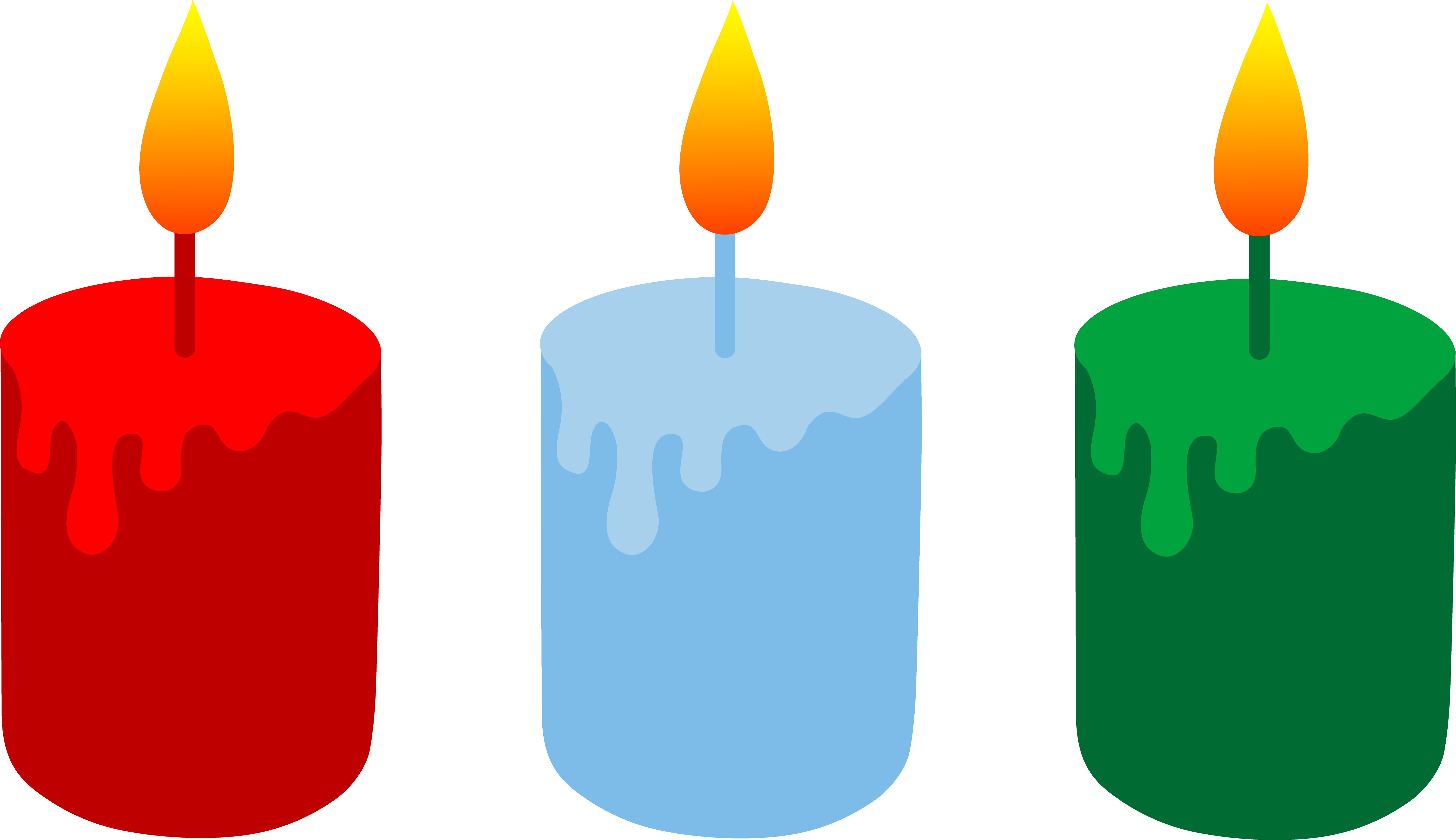 5874x3389 Three Christmas Holiday Candles