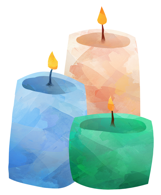 650x787 Watercolor Candles Clipart By Digitalartsi