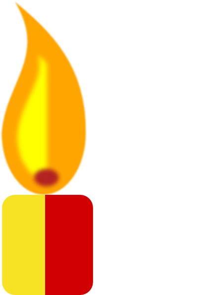 402x595 Yellow Candle Clip Art