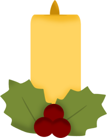 217x279 Christmas Candles Clip Art Christmas Candle And Ivy Clip Art