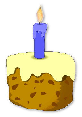 289x409 Birthday Cakes And Candles Clipart
