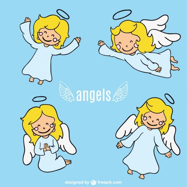626x626 Angel Cartoon Character Design Vector Free Download