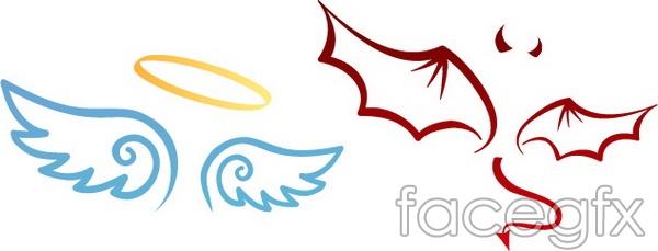 600x229 Cartoon Angel Wings
