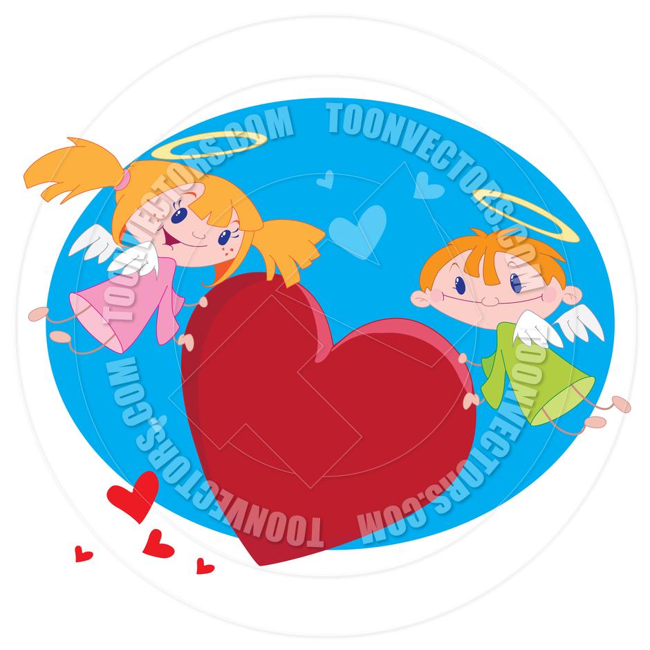 940x940 Cartoon Angels Of Love By Polkan Toon Vectors Eps