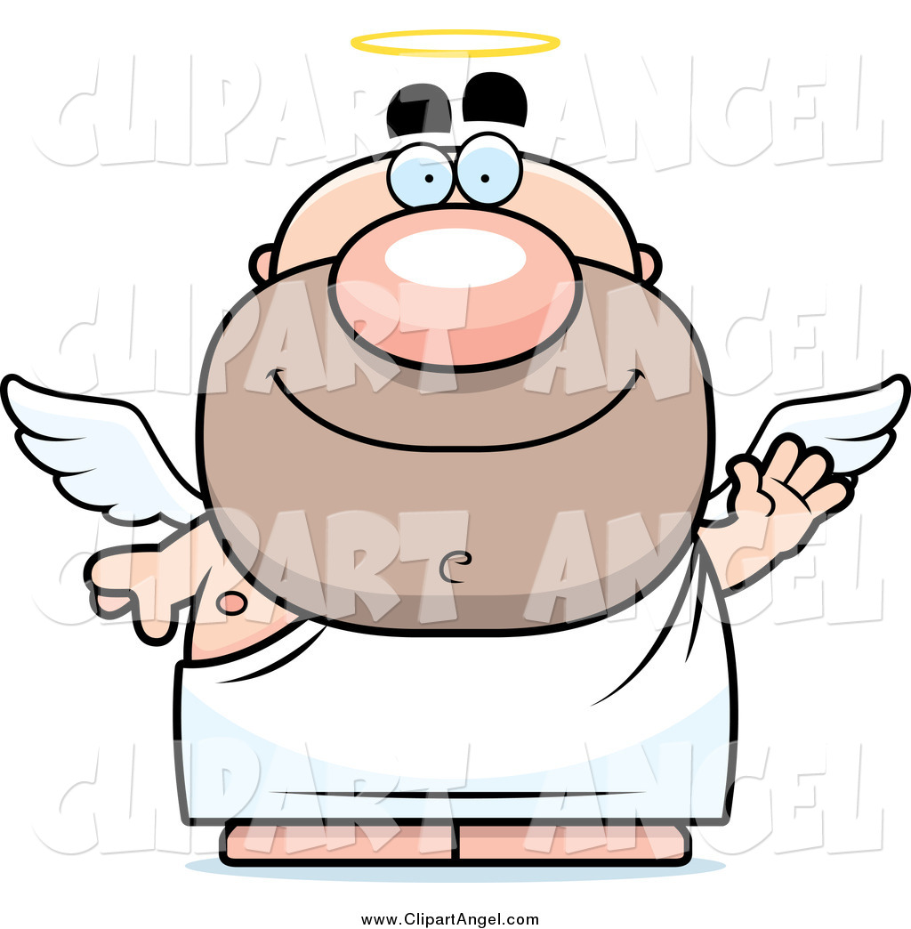 1024x1044 Illustration Vector Cartoon Of A Waving Short Male Angel By Cory