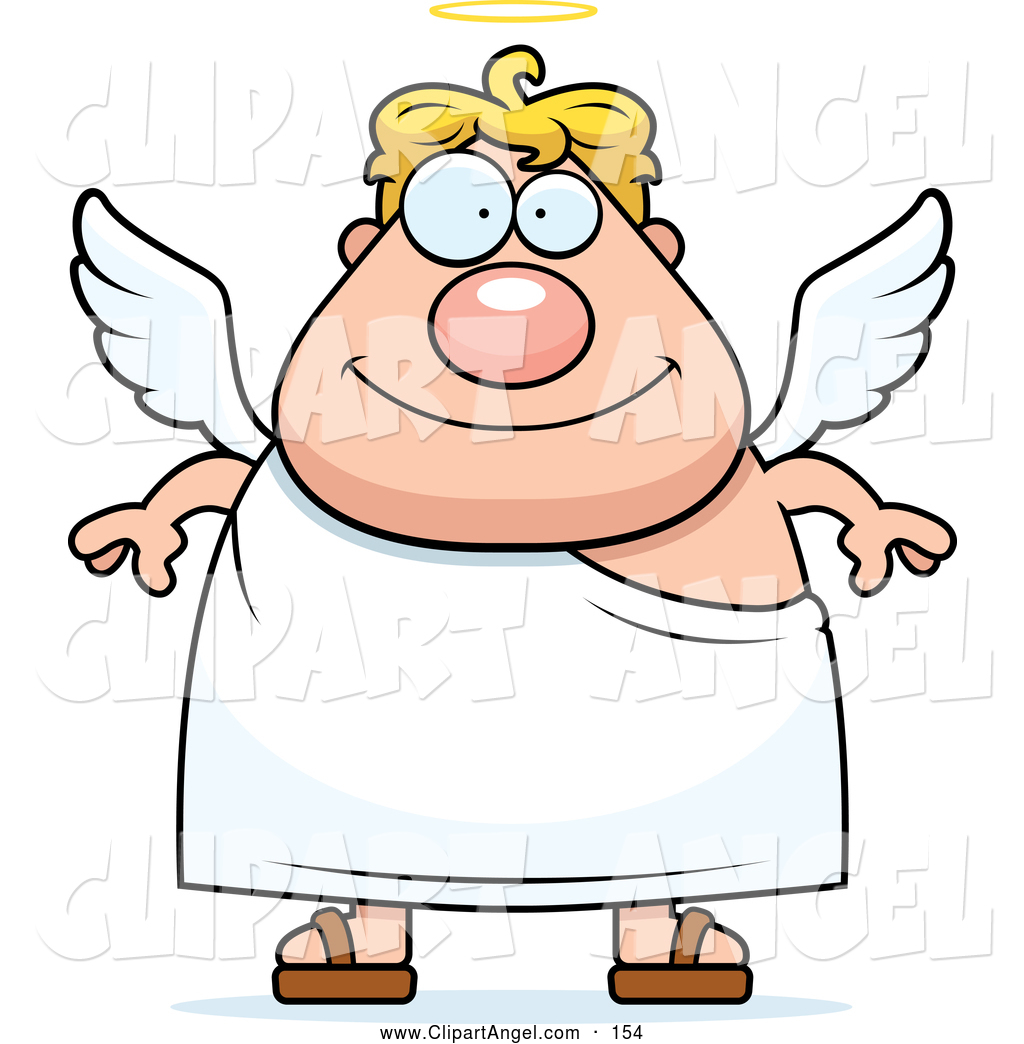 1024x1044 Illustration Vector Cartoon Of An Plump Male Angel With Wings
