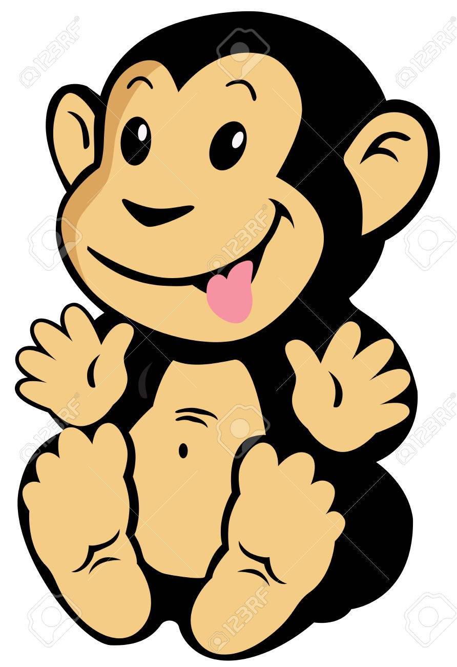 892x1300 Cartoon Monkey For Babies And Little Kids, Image Isolated