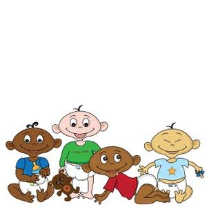 300x300 Free Diverse Babies Clipart Image 0515 1001 3012 0745 Acclaim