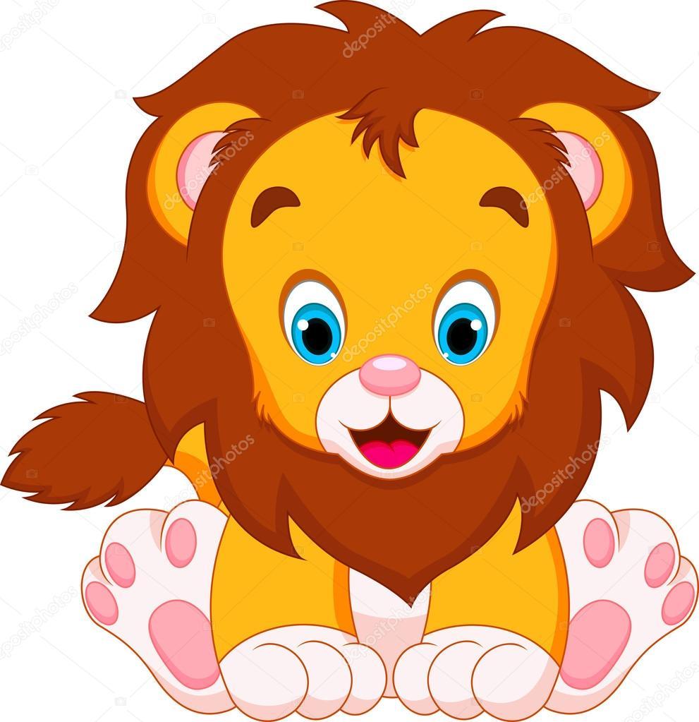 991x1023 Lion Babies Cartoon Stock Vector Irwanjos2