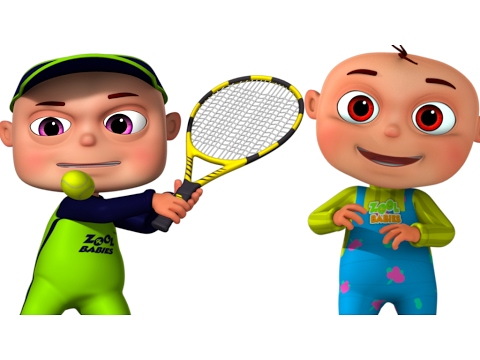 480x360 Zool Babies Playing Tennis Cartoon Animation For Children