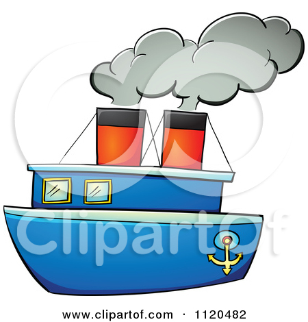 450x470 Cartoon Of A Happy Boy Rowing A Boat