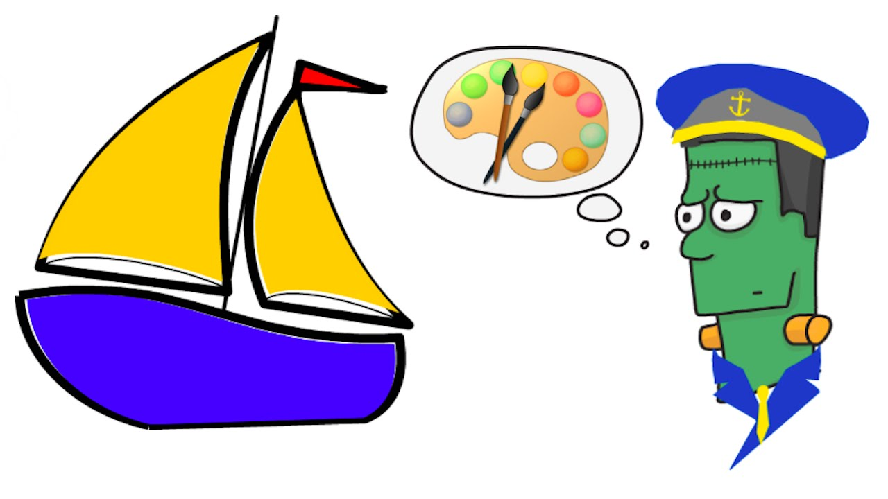 1280x720 How To Draw A Cartoon Sail Boat Step By Step